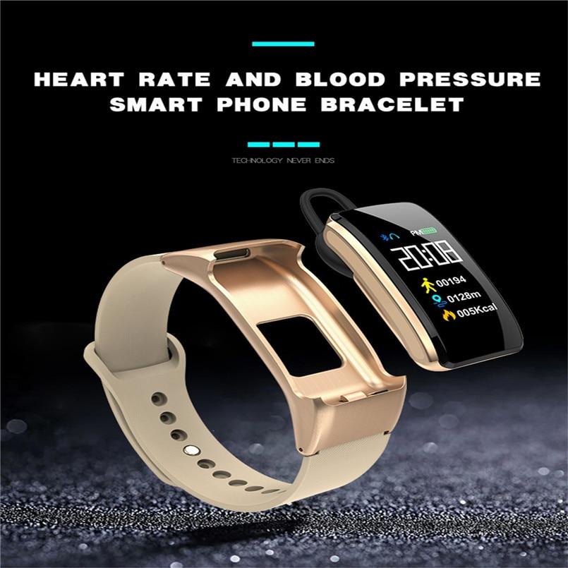 B31 Smart Bracelet Bluetooth Call Bracelet Headset 2 in 1 Smart Watch 0.96 Inch IPS Color AI Voice Intelligence 40AP1023