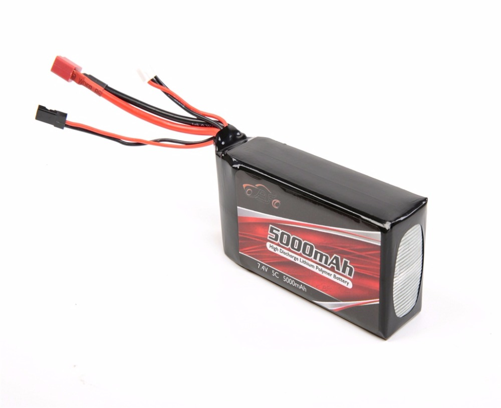 ROVAN LT with receiving 7 4V 5C 5000 mAh lithium battery 107mm 50mm 32mm for 1