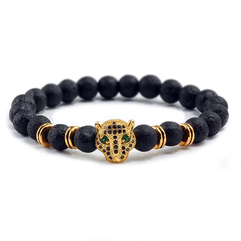 2x pulsera Bracelet perlas pulsera negra Buda plata 8mm para regalo fiesta