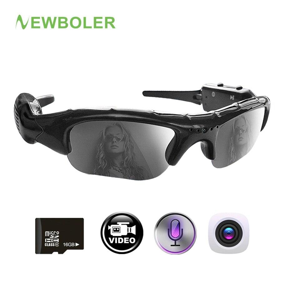 NEWBOLER pesca gafas videocámara 2 en 1 grabadora de Video Digital gafas de sol UV400 deporte al aire libre de la cámara para hombres de pesca