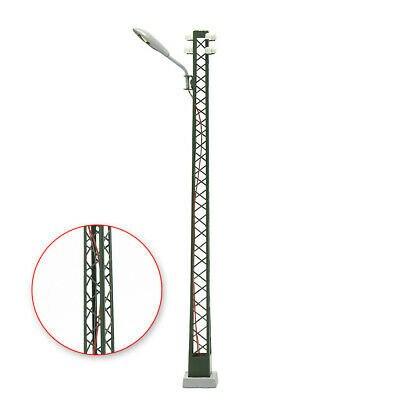 LQS59HO 3pcs Model Railway lights Lattice Mast lamp Track light HO Scale Layout 5