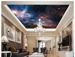Пользовательские фото обои 3d потолочные обои фрески ночное небо, звездное небо, потолок Зенит Настенные обои для декора гостиной