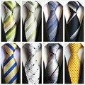 2017 Оптовая 12 цвета бизнес-моды для мужчин галстук полиэстер шелковый галстук парадные мужские галстуки плед полосы мужчина костюмы галстук