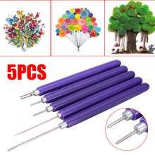 5pcs/set Paper Quilling Pen DIY Slotted Scrapbook Craft Tools
