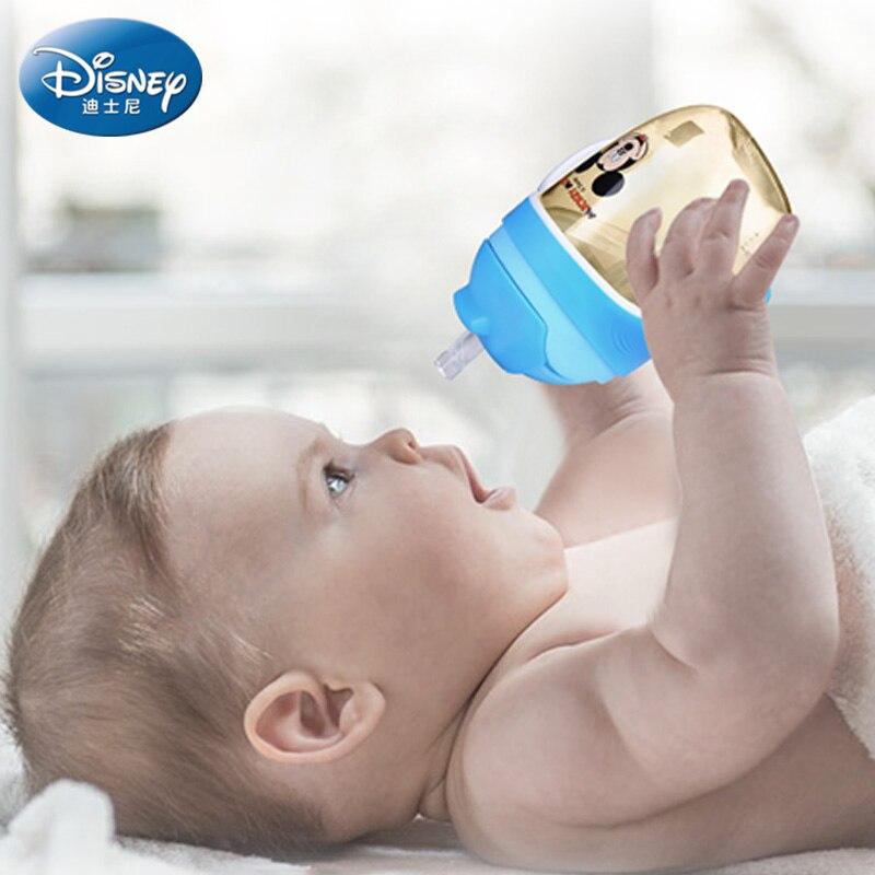 Disney PPSU Baby Feeder Wide Break-resistant Nuk With Handles Feeding Bottle Silicone Nipple Water Baby Feeding Bottle