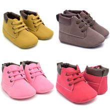 Hot sell Toddler Baby Girls Crib Shoes Boot babies shoes for baby girl toddlers shoes girls Newborn Soft Sole Martin Shoes(China)