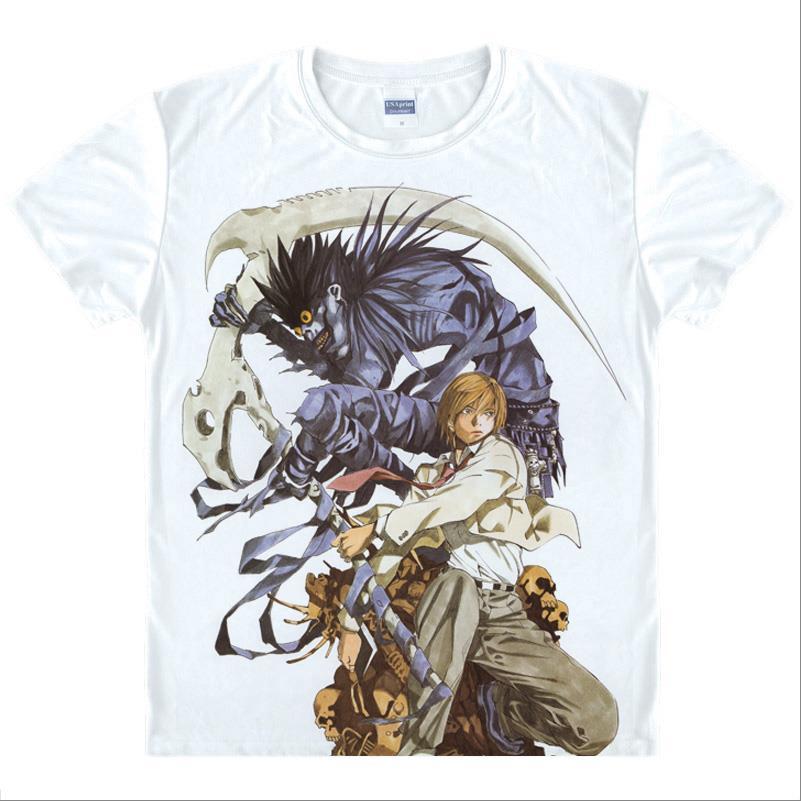 Japan Anime Death Note T Shirt Boys/men Cosplay Yamaguchi Kappei T-Shirt short-sleeve Cartoon Printed Ghost T-shirt Women/girls