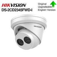 HIKVISION Original H.265 Kamera DS-2CD2345FWD-I 4MP IR Fest Revolver Netzwerk Kamera MINI Dome IP Kamera SD karte slot Gesicht Erkennen
