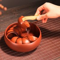 Yixing arcilla roja Cha Xi * cuenco de agua para tazas de té