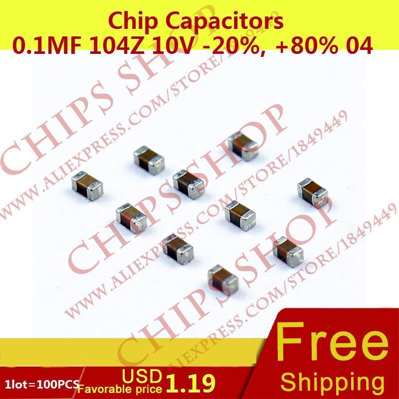 100Pcs 0402 SMD SMT Condensateur Puce Condensateurs types de valeurs