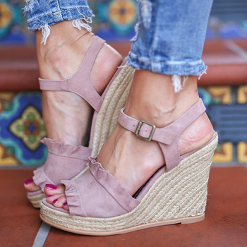 2019 Fashion Wedges Shoes For Women Sandals Lace Summer Shoes With Platform Sandals Female Wedge High Heels Sandalias Mujer Lady
