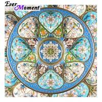 Ever Moment Diamond Painting Handmade Picture Of Rhinestone Mandala Full Square Drill Diamond Embroidery Home Decoration 3F522