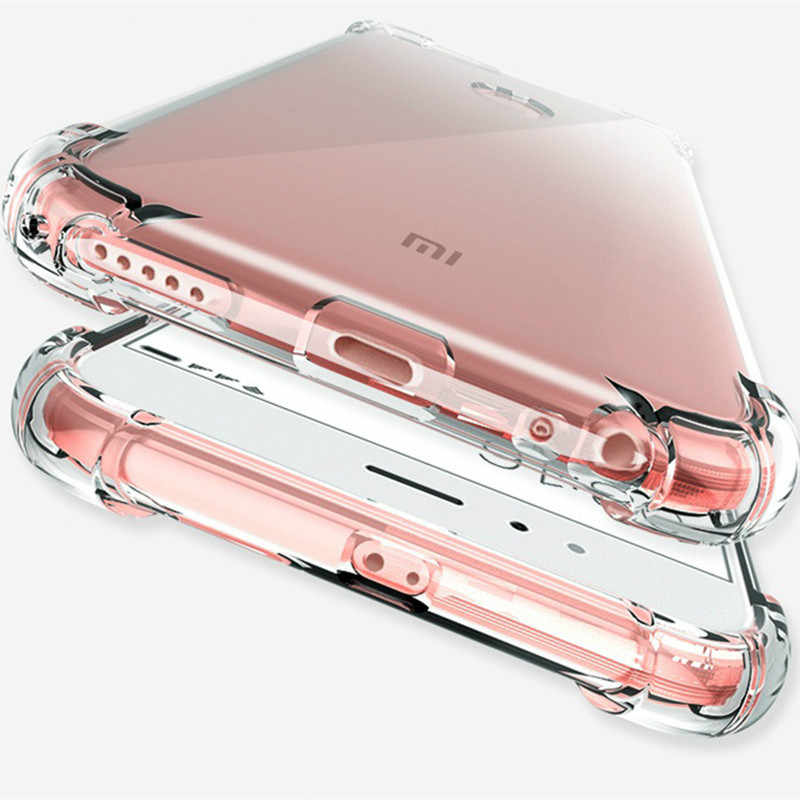 Shockproof Clear Soft Case for Xiaomi 8 8SE 8Lite Pocophone F1 Max 3 Mix 2S A1 5X 5S Redmi 6 6A S2 5A 5 Plus 4A Note 7 4 3 Cases