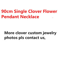 90cm Black shell white Onyx malachite one big flover Necklace gold 925 sterling silver clover pendant for women Sweater chain