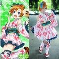 Lovelive! Love Live Kousaka Honoka Awaken Yukata Kimono Dress Uniform Outfit Cosplay Costumes
