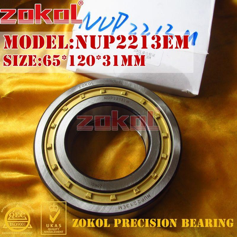 ZOKOL NUP2213 E M bearing NUP2213EM 92513EH Cylindrical roller bearing 65*120*31mm цена 2017