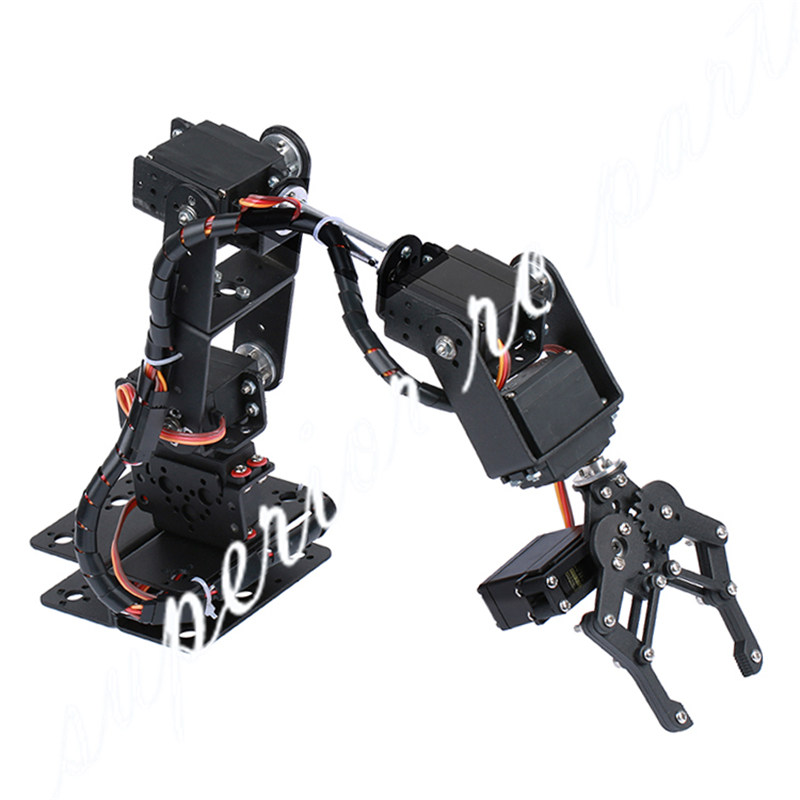 6 DOF Robot Manipulator Metal Alloy Mechanical Arm Clamp Claw Kit MG996R DS3115 for Arduino Robotic Education 6 dof metal mechanical arm robot manipulator robotic claw robotics part for diy rc toy remote control clamp paw claw servo