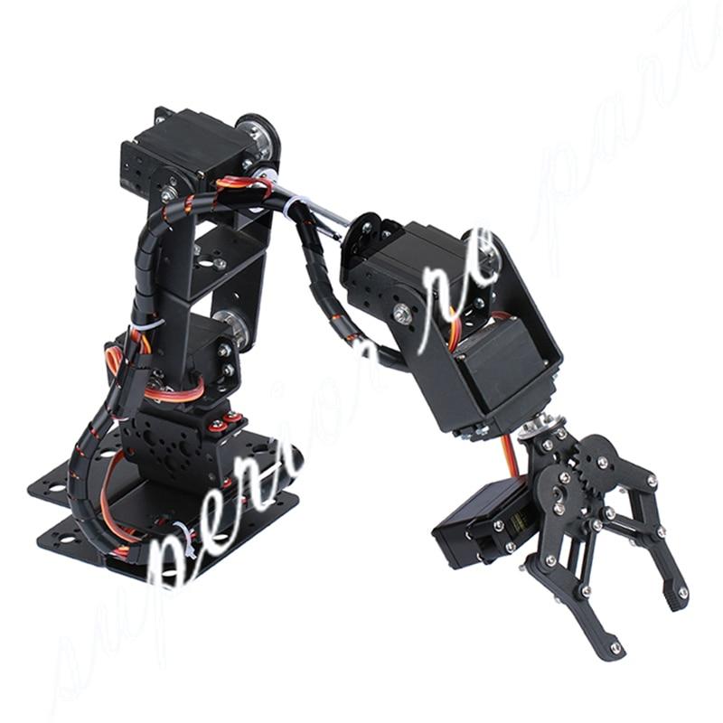 купить 6 DOF Robot Manipulator Metal Alloy Mechanical Arm Clamp Claw Kit MG996R DS3115 for Arduino Robotic Education недорого