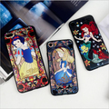 For Apple iphone 7 6 6s Plus New Snow White Mermaid Alice in Wonderland series 3D Relief phone case Back cover