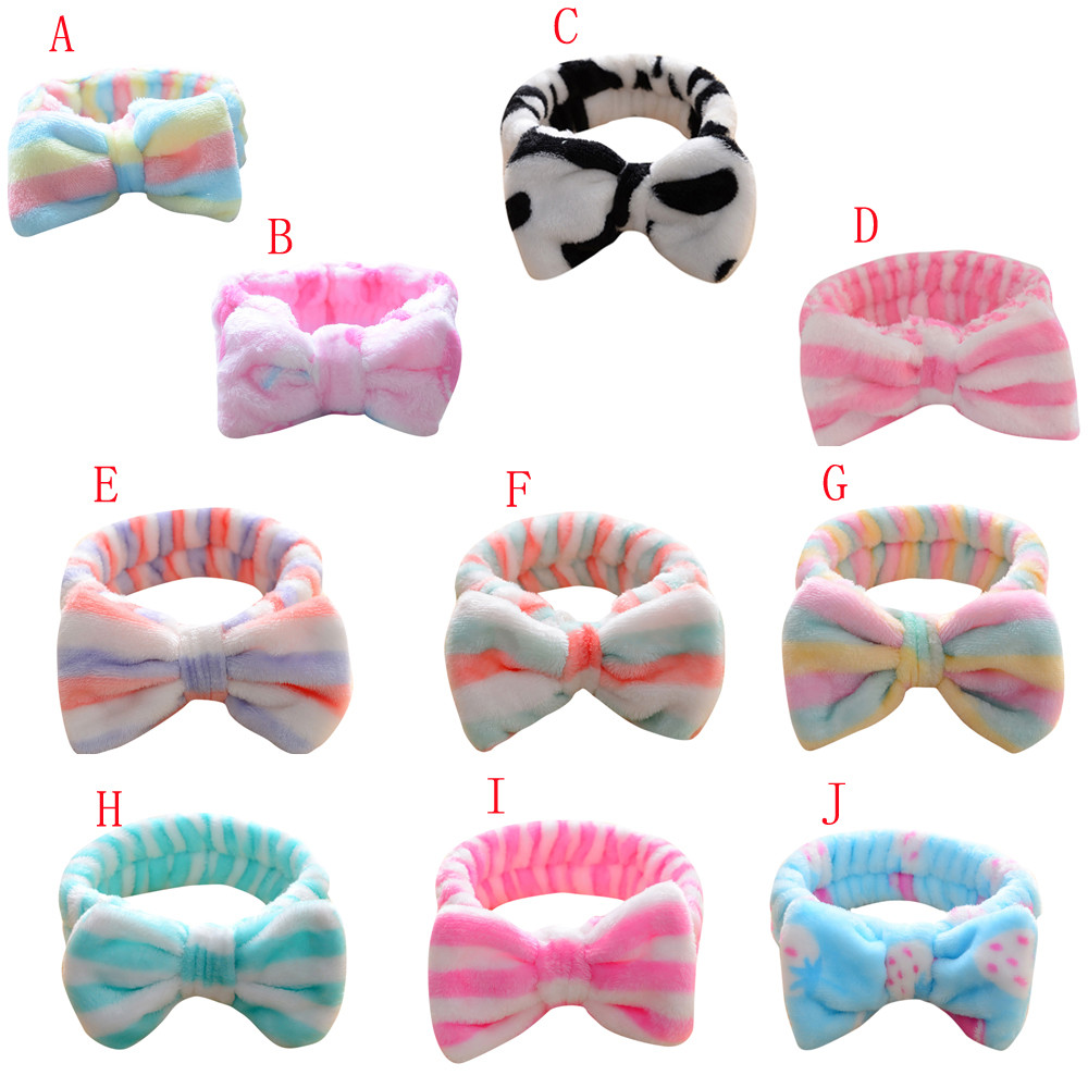 Styling Tools Braiders Haicar Cute Women Girl Bow Knot Soft Hairband Head Wrap Bath Spa Face Headband Braider Makeup Tool 10td0201 Dropship