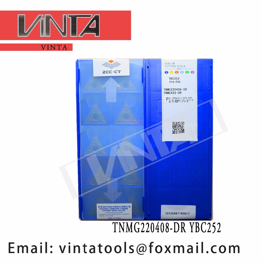 Free Shipping High Quality 10pcs/lots TNMG220408-DR YBC252 Cnc Carbide Turning Inserts