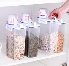 Large Capacity Rice Storage Container Grain Box Kitchen Organizer Food storage tank Sealed with Measuring Cup