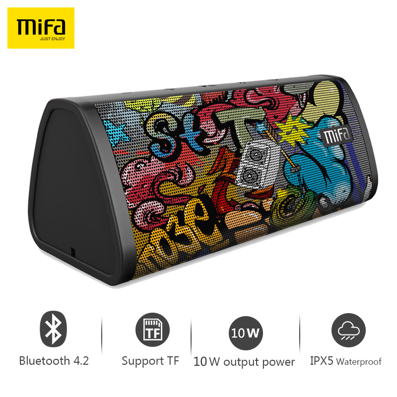 Mifa Portable Bluetooth speaker Portable Wireless Loudspeaker Surround Sound System 10W stereo Music Waterproof Outdoor Speaker jy 3 outdoor wireless bluetooth speaker loudspeaker music speaker