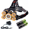 Zoomable 20000LM Head Lamp T6 4R5 LED Headlamp Rechargeable Head Flashlight Linterna 18650 Battery Camping Fishing