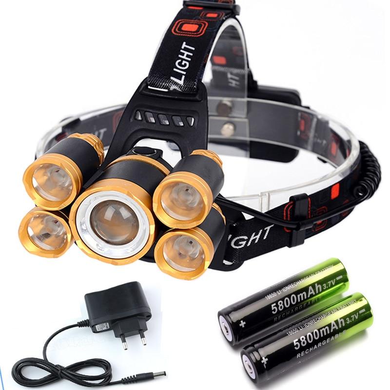 Faróis de Led lanterna lanterna 18650 bateria recarregável Proposito : Camping