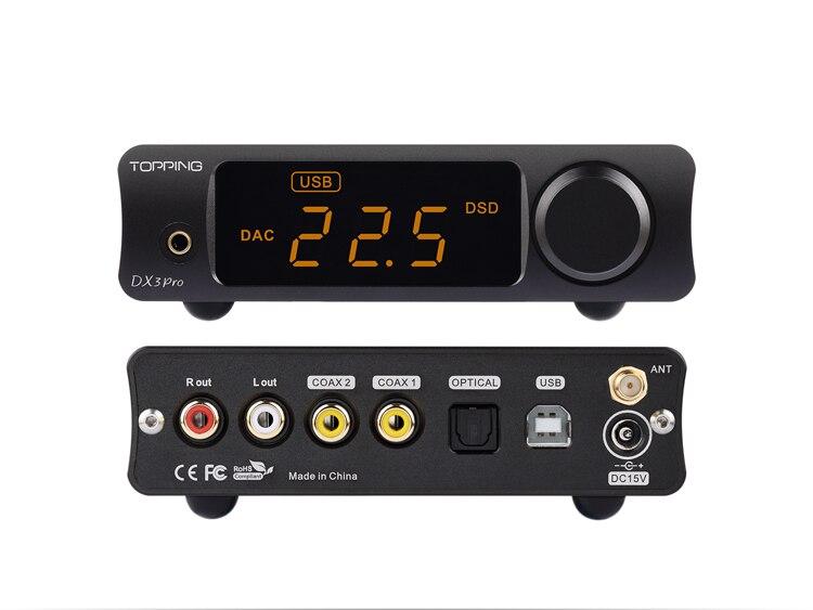 TOPPING DX3PRO USB DAC Bluetooth 5.0 AK4493 * 2 XMOS XU208 DSD512 APTX HD เอาต์พุตหูฟัง AMP OPA1612-ใน เครื่องขยายเสียงหูฟัง จาก อุปกรณ์อิเล็กทรอนิกส์ บน AliExpress - 11.11_สิบเอ็ด สิบเอ็ดวันคนโสด 3