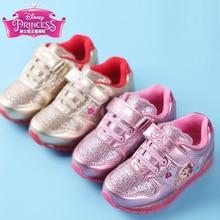 Disney kids casual shoes PU waterproof girls sneakers tipsietoes shining  sneakers children winter school shoes pincess 36acb205eeb3