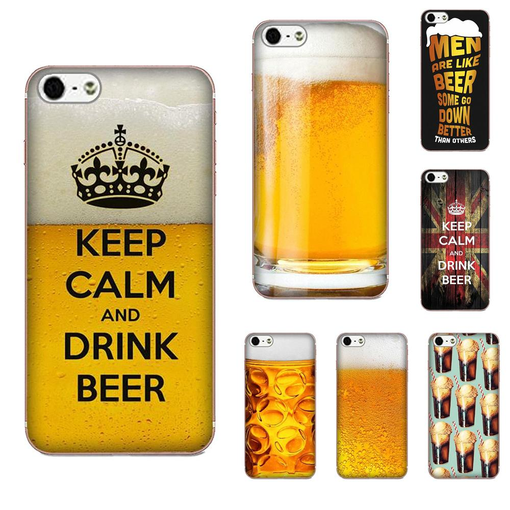 TPU <font><b>Cases</b></font> Skin Keep Calm And Drink Beer Soft For Samsung Galaxy Note 5 8 9 S3 S4 S5 S6 S7 S8 S9 S10 mini Edge Plus Lite image