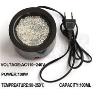 Hot Glue Pot 100W Plastic Melting Pot Bonding Hair Styles Extension Heat Fusion Tool