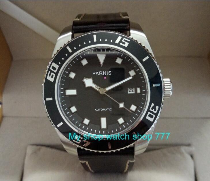 купить 43mm Parnis Sapphire Crystal Japanese 21 jewels Automatic Self-Wind Movement Mechanical watches 5Bar Luminous Men's watches 415o по цене 7282.53 рублей