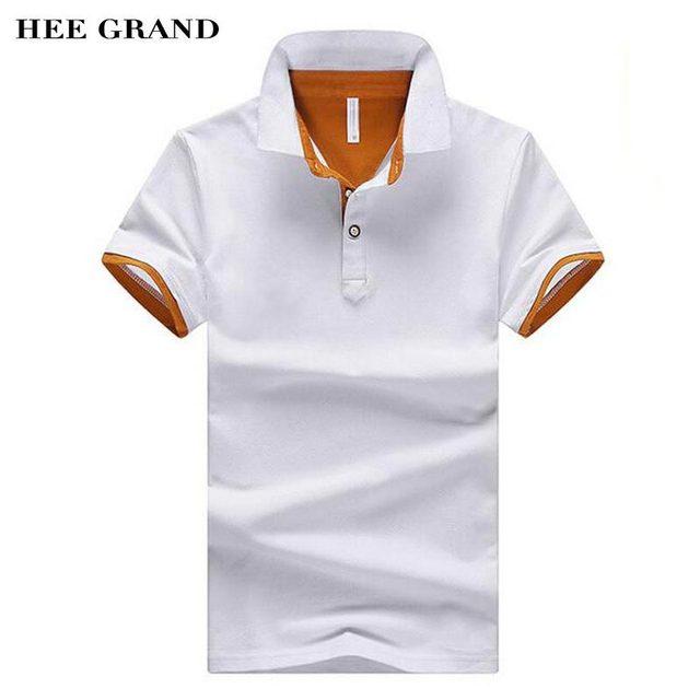 Hee Grand/Новое поступление 2017 года Для мужчин лето Поло рубашка с отложным Пух воротник хлопок дышащий Материал мужской Повседневное Футболки-поло MTP437