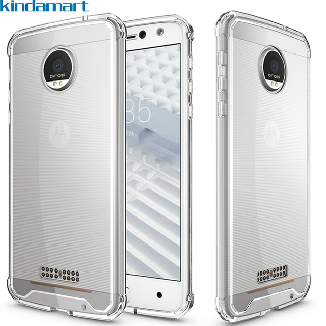 online retailer e441f 0bbd1 US $2.69 10% OFF|For Motorola Moto Z Force Case For Moto Z Force Droid  Clear Cover Drop Cushion Bumper Hybrid Case For Moto Z Force Droid  Edition-in ...