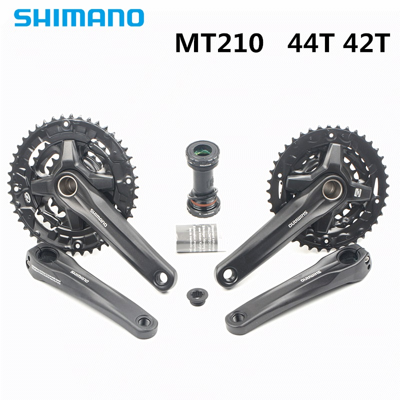 Vélo pédalier shimano mt210 22/32/44 T 22/30/40 T 3*9 S vélo vélo vtt Manivelle Pédalier avec mt500 44-32-22T mise à niveau