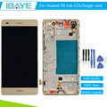 Gold Touch Screen Digitizer LCD Display Assembly With Frame For Huawei Ascend P8 Lite 100% Working
