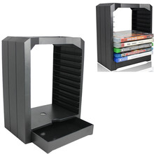 Universal Game Storage Showcase Tower 10 CD Games holder for Playstation 4 PS4 Slim Pro Xbox ONE Xbox 360 accessories PS4 PS 4(China)