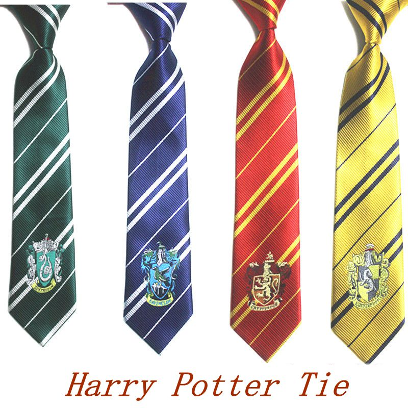 RUBYVICKY <font><b>HarryPotter</b></font> Tie Cosplay Action Toy Figure Clothing Accessories Gryffindor College Badge Insignia Necktie Kids Children image