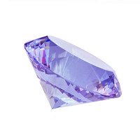 Lilac 100mm 1pcs Multifaceted Big Crystal Diamond Paperweight Lamp Parts For DIY Crafts Lucky Gifts For Collection Hot Sales