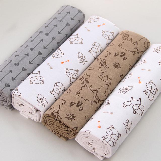 4pcs/Pack 100%Cotton Newborn Colorful Blanket