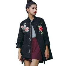 Ethnic Vintage Embroidery Jacket Women Basic Coats Outwear 2018 Autumn Female Oversized Coat Jaqueta Feminina Chaquetas Mujer