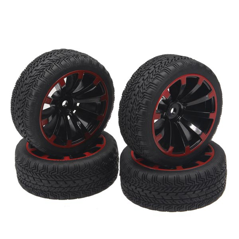 New Arrival 4Pcs 1/10 On-Road Rubber Tyre For HSP Tamiya Losi RC Car Tyre 4pcs 1 10 on road rubber tyre for hsp tamiya losi rc car tyre