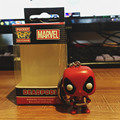 Cute Funko Pop Deadpool Keyring Kids School Bag/ Keychain Pendant Marvel Figurine Dolls Toys Funko Deadpool Birthday Party Favor