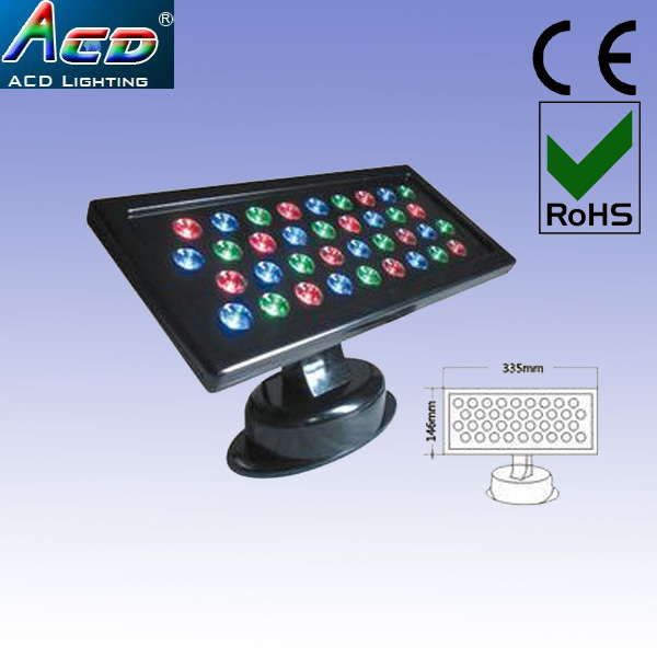 wholesale 3*Lot led wall washer light 36w rgb dmx led commercial led stage effect lighting flash led washer rgb ip34