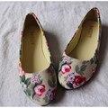2016 внешней торговли новый торговый камуфляж холст обувь на плоской подошве многоцветный розы большой размер обуви h290