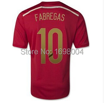 5bb537e42 2014 Wold Cup Spain Jersey Iniesta Xavi Mata Spain soccer jersey football  jersey Spain soccer shirt Espana football jerseys-in Soccer Jerseys from  Sports ...