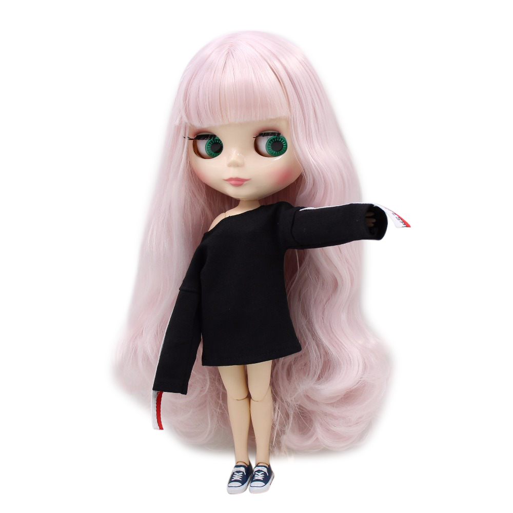 factory blyth doll BL1327 Light Pink hair white skin JOINT body 1/6 30cm factory blyth doll 150bl136 white hair white skin joint body translucent face 1 6 30cm