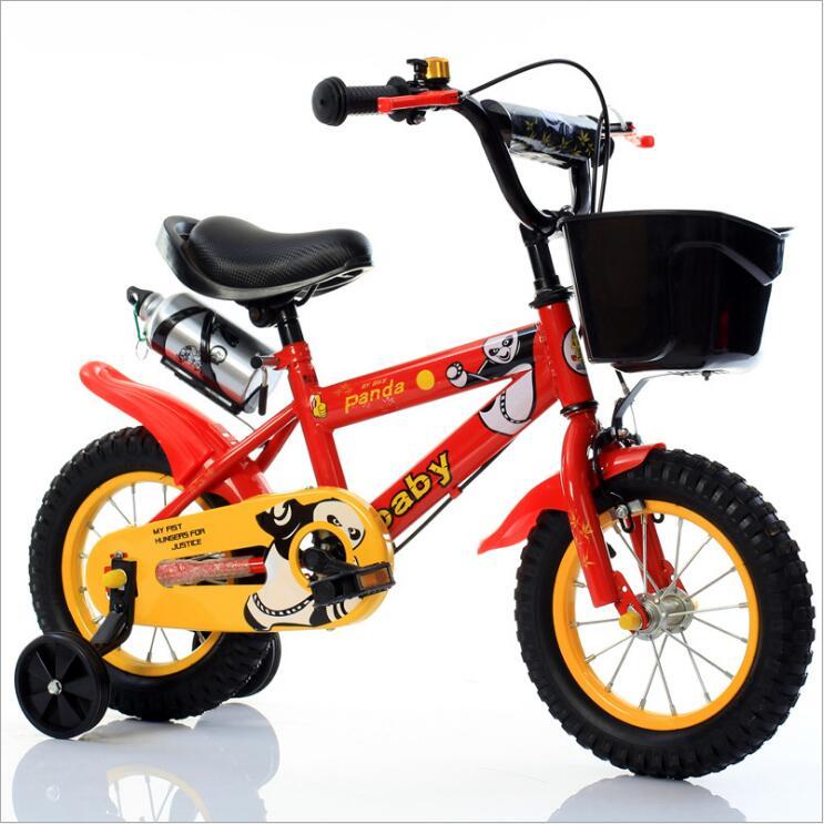 Детский велосипед 12 дюймов 14 дюймов 16 дюймов велосипед детская коляска велосипед для детей четыре колеса велосипед 3 8 лет - 2